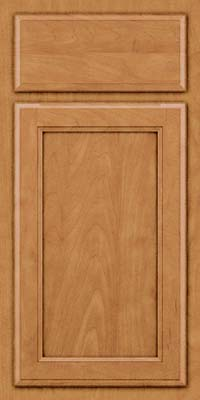 Square Recessed Panel - Veneer (NG) Maple in Ginger w/Sable Glaze - Base