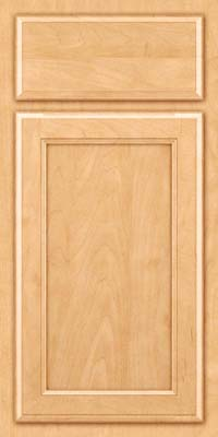 Square Recessed Panel - Veneer (NG) Maple in Honey Spice - Base