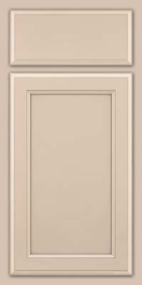 Square Recessed Panel - Veneer (NG) Maple in Mushroom w/ Cinder Glaze - Base