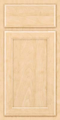 Square Recessed Panel - Veneer (NG) Maple in Natural - Base