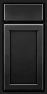 Square Recessed Panel - Veneer (NG) Maple in Onyx - Base