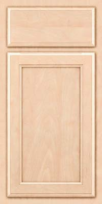 Square Recessed Panel - Veneer (NG) Maple in Parchment - Base