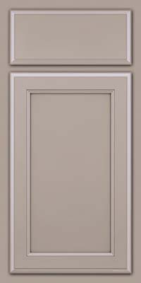 Square Recessed Panel - Veneer (NG) Maple in Pebble Grey - Base