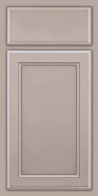 Square Recessed Panel - Veneer (NG) Maple in Pebble Grey w/ Cocoa Glaze - Base