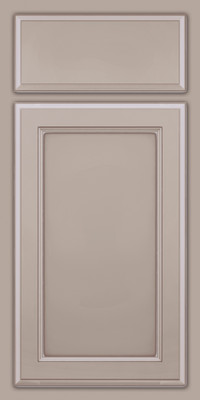 Square Recessed Panel - Veneer (NG) Maple in Pebble Grey w/ Coconut Glaze - Base