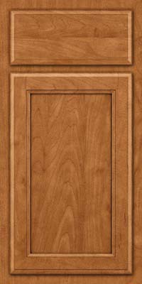 Square Recessed Panel - Veneer (NG) Maple in Praline w/Onyx Glaze - Base