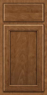 Square Recessed Panel - Veneer (NG) Maple in Rye w/Onyx Glaze - Base