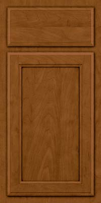 Square Recessed Panel - Veneer (NG) Maple in Rye w/Sable Glaze - Base