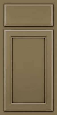 Square Recessed Panel - Veneer (NG) Maple in Sage w/Cocoa Glaze - Base