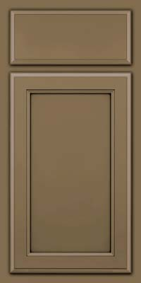 Square Recessed Panel - Veneer (NG) Maple in Sage w/Onyx Glaze - Base