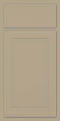 Square Recessed Panel - Veneer (NG) Maple in Willow w/ Cinder Glaze - Base