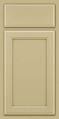 Square Recessed Panel - Veneer (NG) Maple in Willow w/Cocoa Glaze - Base
