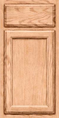 Square Recessed Panel - Veneer (SW) Oak in Natural - Base