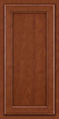 Square Recessed Panel - Veneer (NG) Maple in Chestnut w/Onyx Glaze - Wall