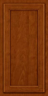 Square Recessed Panel - Veneer (NG) Maple in Cinnamon w/Onyx Glaze - Wall