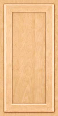 Square Recessed Panel - Veneer (NG) Maple in Honey Spice - Wall