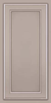 Square Recessed Panel - Veneer (NG) Maple in Pebble Grey w/ Cocoa Glaze - Wall