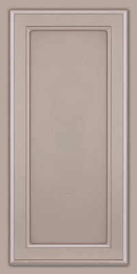 Square Recessed Panel - Veneer (NG) Maple in Pebble Grey w/ Coconut Glaze - Wall