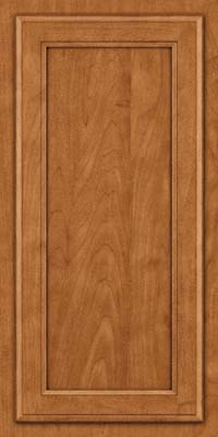 Square Recessed Panel - Veneer (NG) Maple in Praline w/Onyx Glaze - Wall