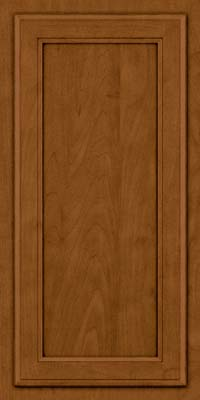 Square Recessed Panel - Veneer (NG) Maple in Rye w/Sable Glaze - Wall