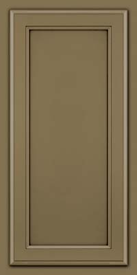 Square Recessed Panel - Veneer (NG) Maple in Sage w/Cocoa Glaze - Wall