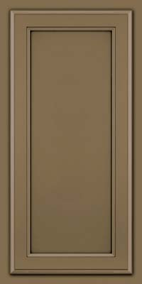 Square Recessed Panel - Veneer (NG) Maple in Sage w/Onyx Glaze - Wall