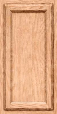 Square Recessed Panel - Veneer (SW) Oak in Natural - Wall