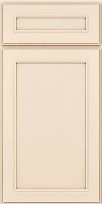 Square Recessed Panel - Veneer (PDM) Maple in Canvas w/Cocoa Glaze - Base