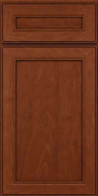 Square Recessed Panel - Veneer (PDM) Maple in Chestnut w/Onyx Glaze - Base