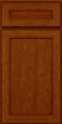 Square Recessed Panel - Veneer (PDM) Maple in Cinnamon w/Onyx Glaze - Base