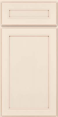 Square Recessed Panel - Veneer (PDM) Maple in Dove White w/Cocoa Glaze - Base