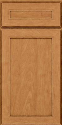 Square Recessed Panel - Veneer (PDM) Maple in Ginger w/Sable Glaze - Base