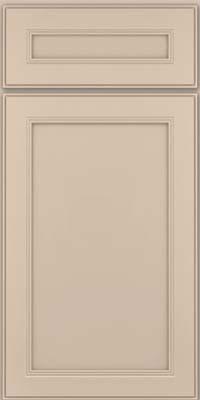 Square Recessed Panel - Veneer (PDM) Maple in Mushroom w/ Cinder Glaze - Base