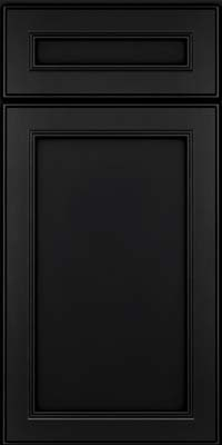 Square Recessed Panel - Veneer (PDM) Maple in Onyx - Base
