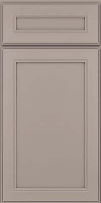 Square Recessed Panel - Veneer (PDM) Maple in Pebble Grey - Base