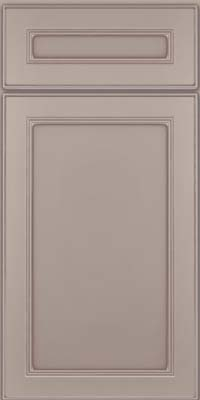 Square Recessed Panel - Veneer (PDM) Maple in Pebble Grey w/ Cocoa Glaze - Base