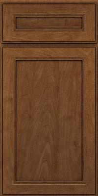 Square Recessed Panel - Veneer (PDM) Maple in Rye w/Onyx Glaze - Base
