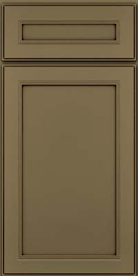 Square Recessed Panel - Veneer (PDM) Maple in Sage w/Cocoa Glaze - Base