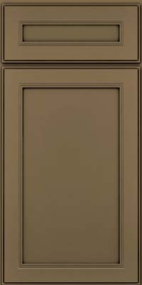Square Recessed Panel - Veneer (PDM) Maple in Sage w/Onyx Glaze - Base