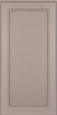 Square Recessed Panel - Veneer (PDM) Maple in Pebble Grey w/ Cocoa Glaze - Wall