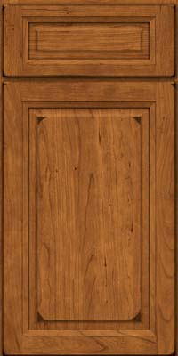 Square Raised Panel - Solid (PK) Cherry in Burnished Golden Lager - Base