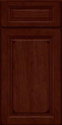Square Raised Panel - Solid (PK) Cherry in Burnished Cabernet - Base