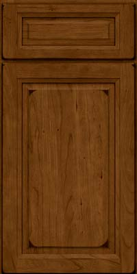 Square Raised Panel - Solid (PK) Cherry in Burnished Ginger - Base