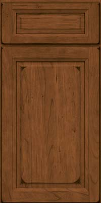 Square Raised Panel - Solid (PK) Cherry in Burnished Rye - Base