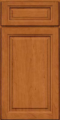 Square Raised Panel - Solid (PK) Cherry in Honey Spice - Base