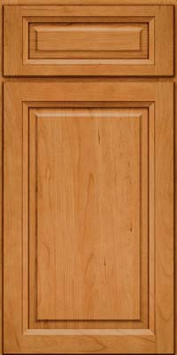 Square Raised Panel - Solid (PK) Cherry in Natural - Base