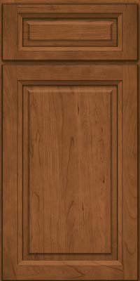 Square Raised Panel - Solid (PK) Cherry in Rye - Base