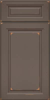 Square Raised Panel - Solid (PK) Cherry in Vintage Greyloft w/ Sable Patina - Base