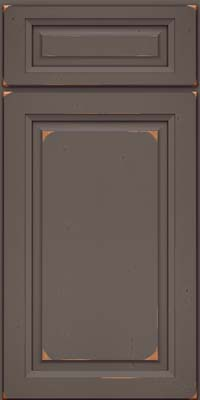 Square Raised Panel - Solid (PK) Cherry in Vintage Greyloft - Base