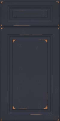 Square Raised Panel - Solid (PK) Cherry in Vintage Midnight - Base